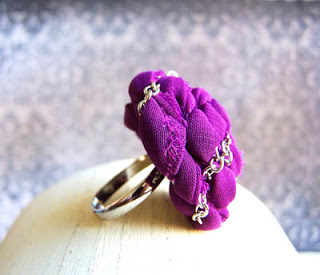 fabric rose ring