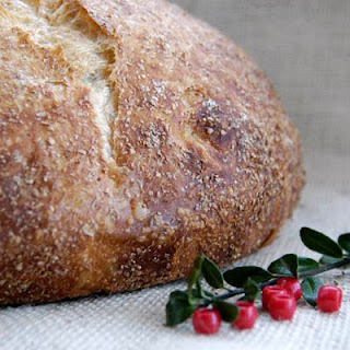 artisan bread for holiday table