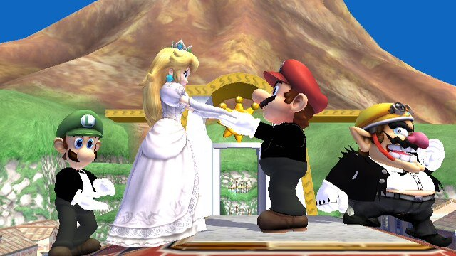 princess peach and mario cartoon. Except in Super Princess Peach