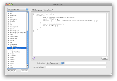 TextMate ekran görüntüsü, Bundle editör
