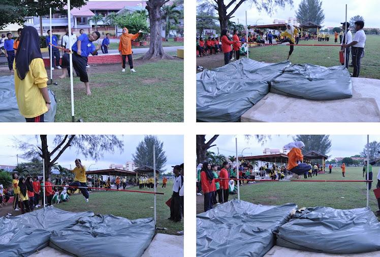 Aksi Lompat tinggi Wanita