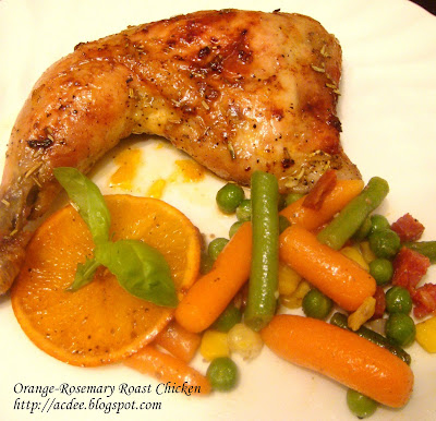 Confession Nook: Orange- Rosemary Roast Chicken
