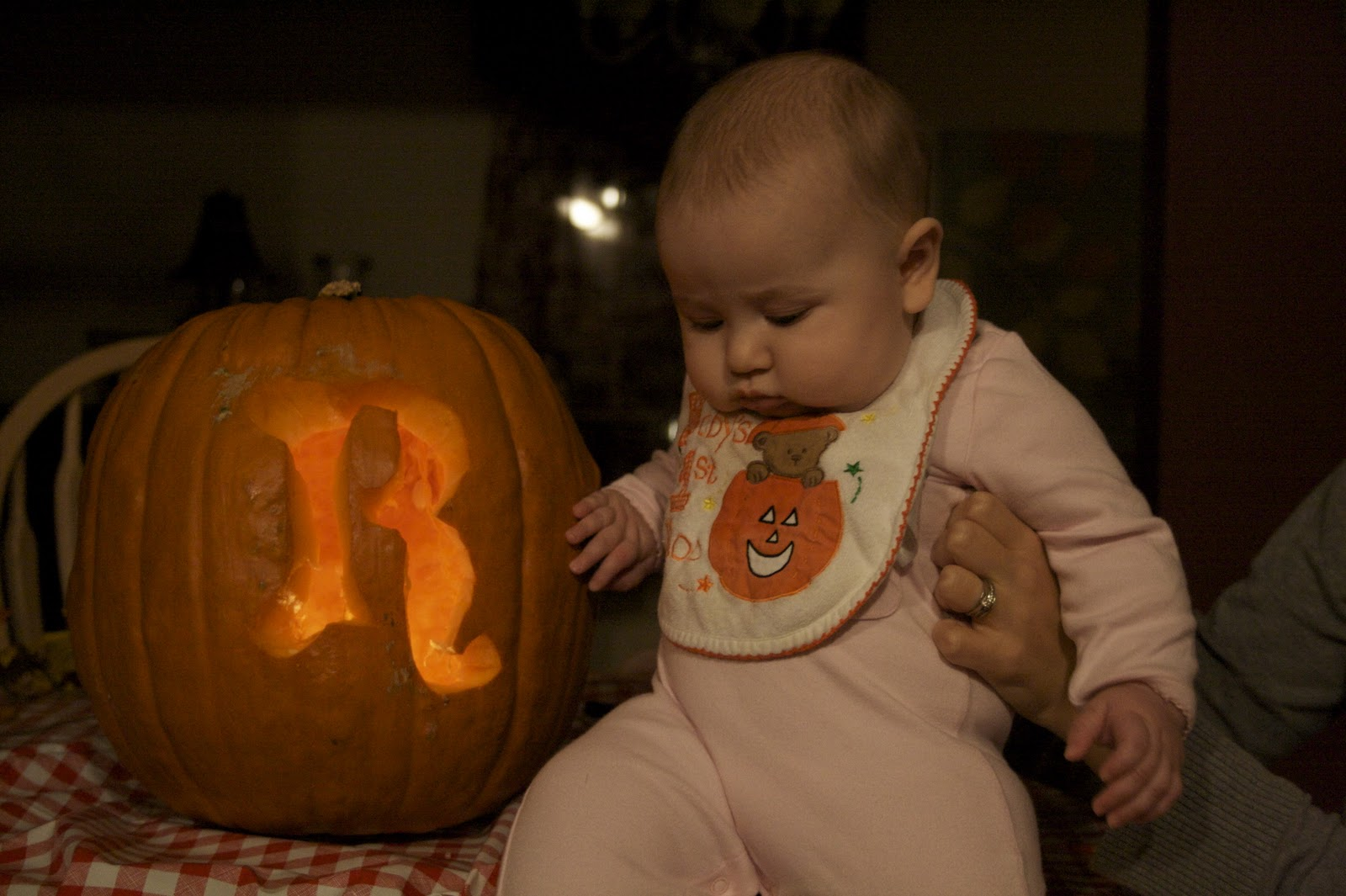 here is one photo i managed to sneak in before i maxed out my picture usage my first babyu0027s first halloween pumpkin sigh