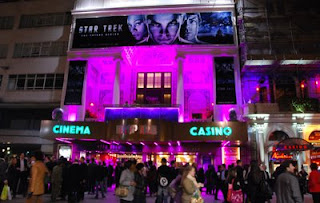 Click to see this image of the outside of the Prince's Trust Star Trek Premiere bigger