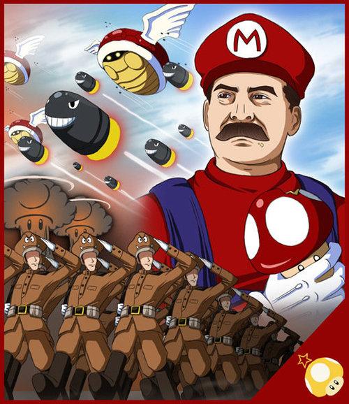 Mario se parece con Stalin Super+Stalin+Bros