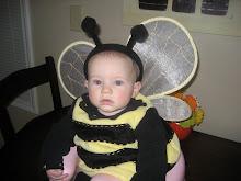1st Halloween as a bumblebee!