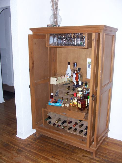 Personality Is Preferred Wine Liquor Armoire Out Of Old