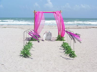 Wedding arches and ceremony decor are the perfect setting for an outdoor or