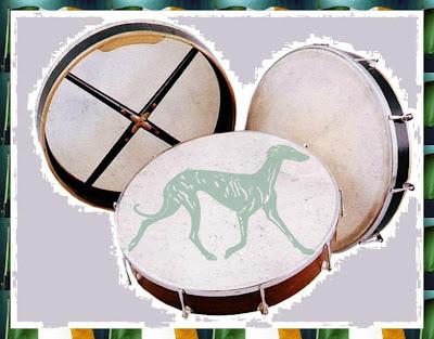 l'Irlande fabrique des tambourins en peau de Greyhound