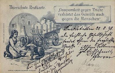 Tierschutz-Postkarte anno 1898