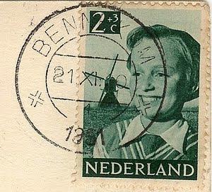 Kinderbriefmarke Niederlande 1951