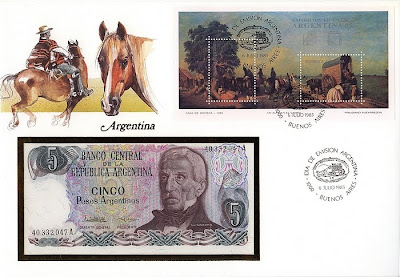 Money Paper Cover - Argentina