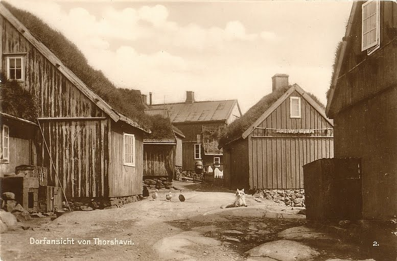 Färöer Häuser in Thorshavn