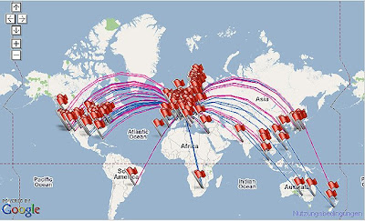 Postcrossing Map