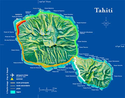 Tahiti Bus Route Map