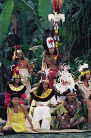 Tahitians in Cermonial Dress