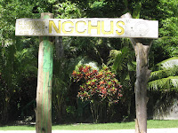 Ngchus Beach, Palau Sign