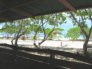 Kayangel, Palau Motu Camping Shelter