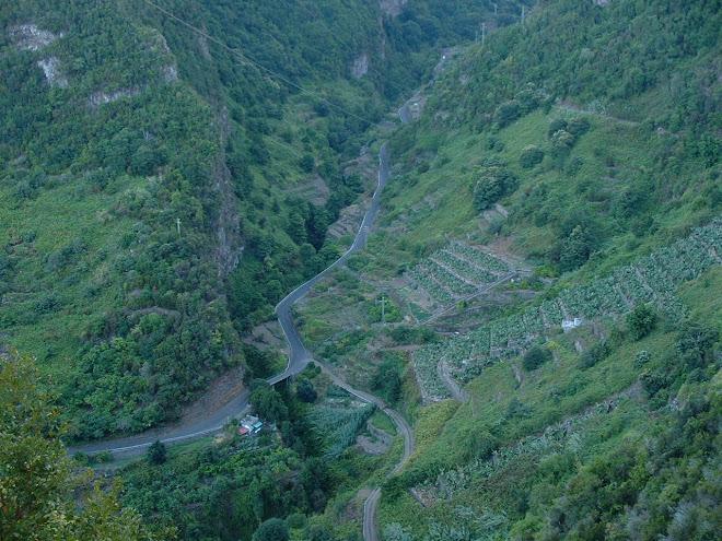 San Andres y Sauces, La Palma, camino del origen de la Reserva de La Biosfera isla de La Palma