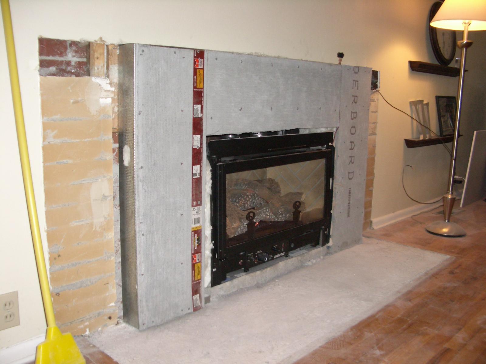 the project spot fireplace redo