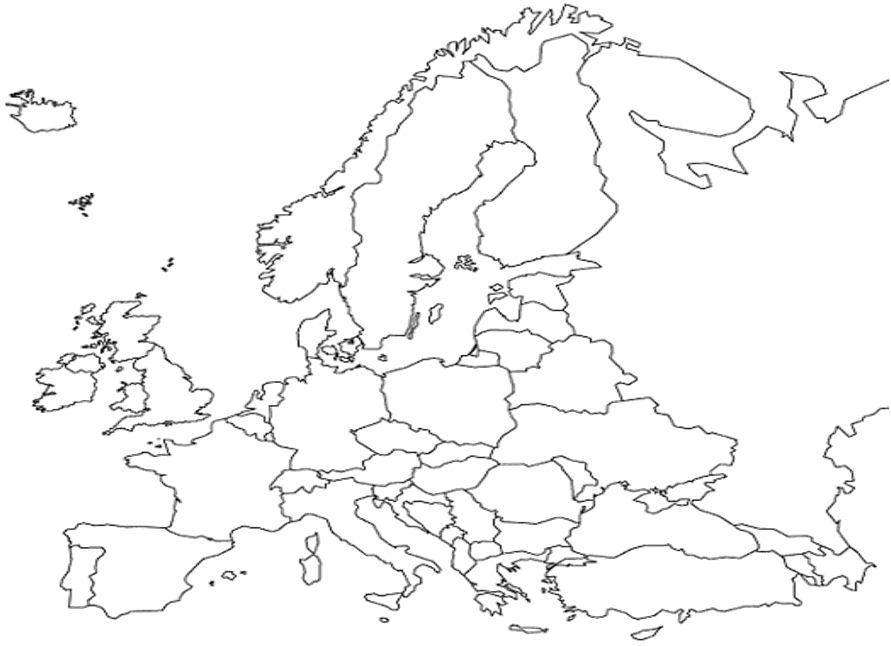 Mapa De Europa Mudo Para Rellenar