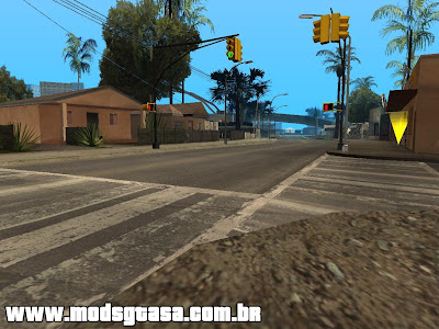 GTA IV Street For SA (East Los Santos) para GTA San Andreas