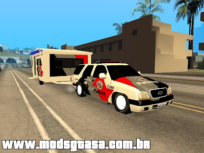 Chevrolet Blazer + Base Movel PMESP para GTA San Andreas