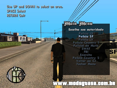 Authority Mod para GTA San Andreas
