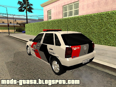 Vw Gol G5 PM-SP para GTA San Andreas
