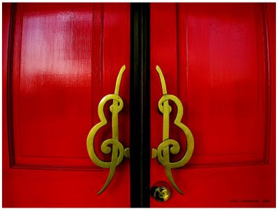 Red PVC Doors and Windows