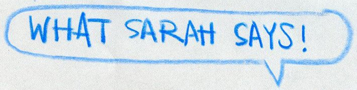 What Sarah Says