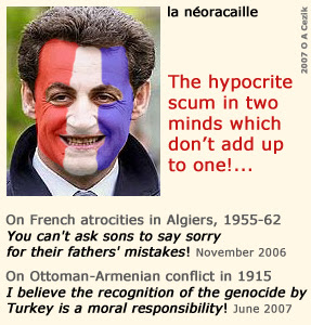 Sarkozy: The hypocrite scum in two  minds which don't add up to one