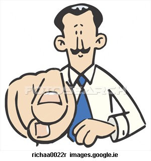 Gallery For > A Finger Pointing at Someone Else Clipart