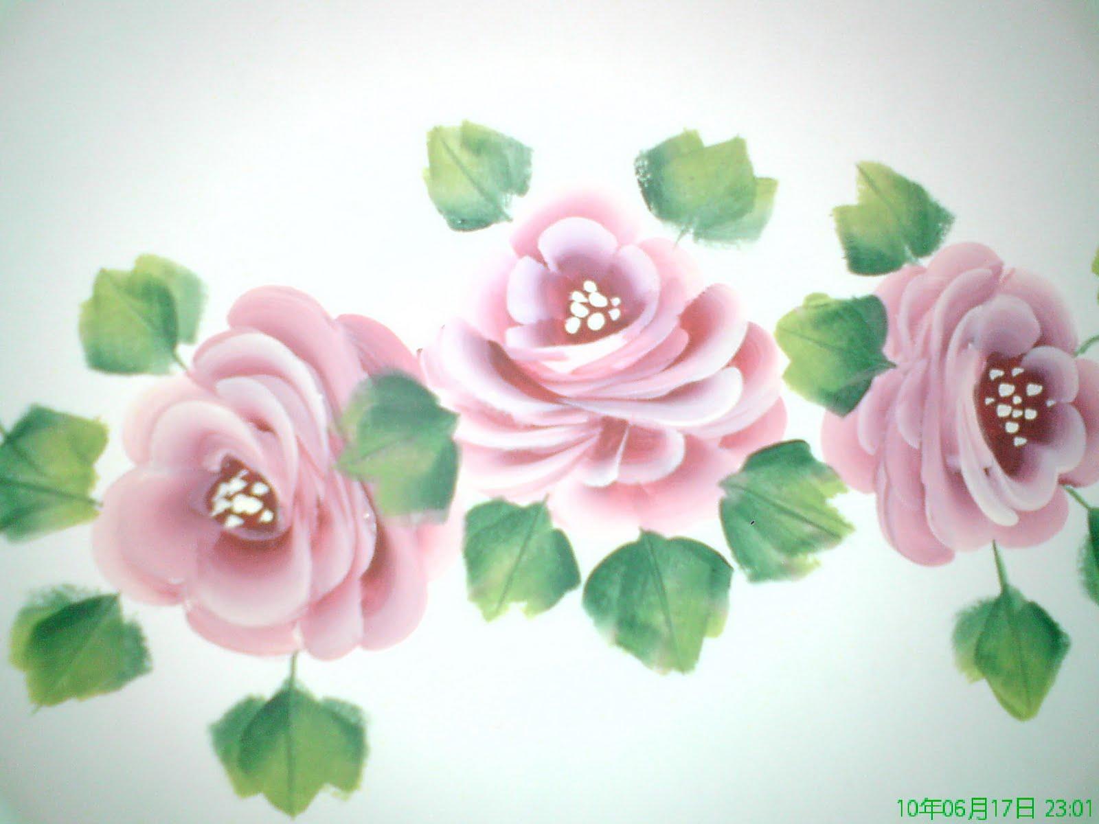 melukis roses lagi....