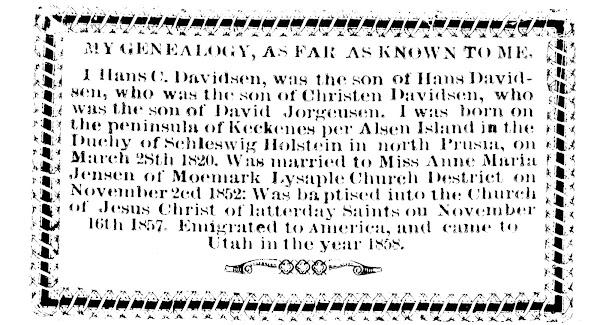 H C Davidson's Genealogy