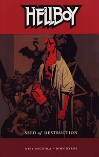 Review Hellboy Volume One Seed of Destruction Mike Mignola John Byrne Dark Horse Cover trade paperback tpb comic book