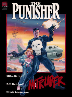 Marvel Trade Paperback Timeline TPB Punisher Intruder Mike Baron Bill Reinhold Linda Lessmann Marvel Cover hardcover hc original graphic novel ogn comic book
