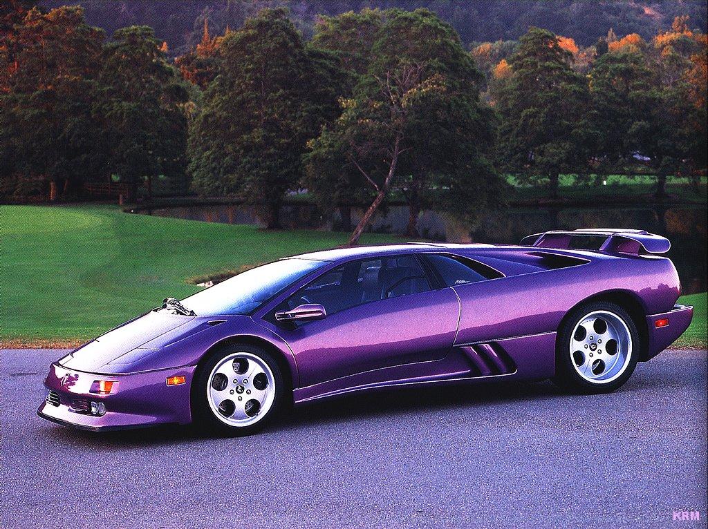 Purple Lamborghini Diablo SV