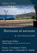 Presentación del poemario de José Mª Garrido
