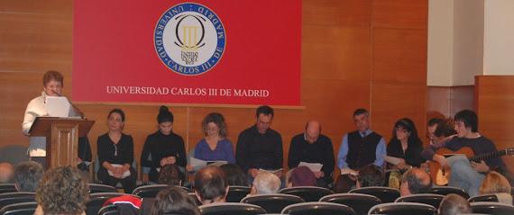 Recital  final de las Jornadas dedicadas a Miguel Hernández