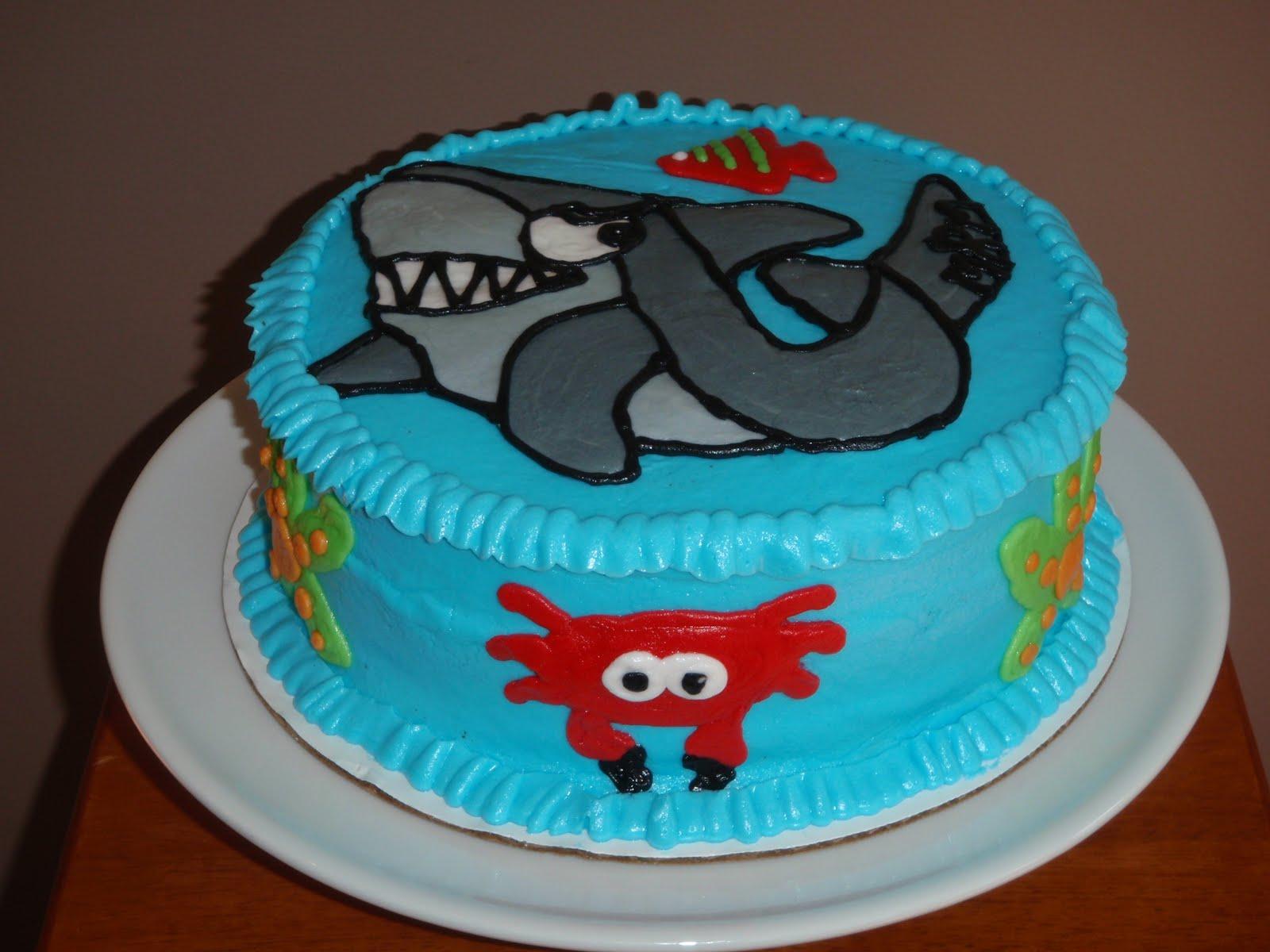 Shark Birthday Cake Templates - The Best Cake Of 2018