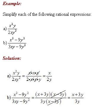 how to find restrictions in rational expressions