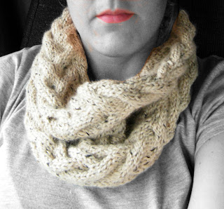 Free Knitting Pattern - Beautiful Tube Scarf from the Scarves Free