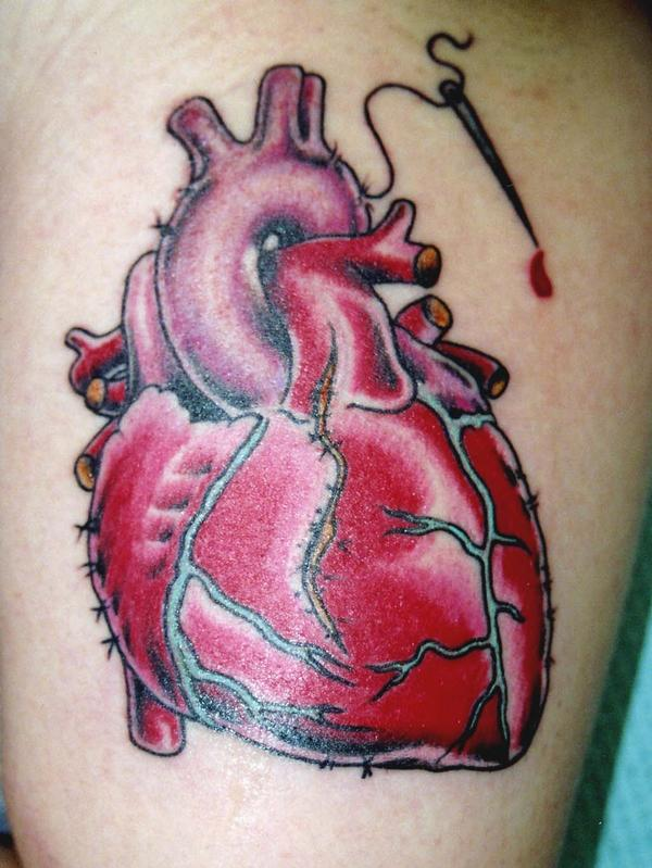 tattoos of hearts. heart diagram no labels. heart