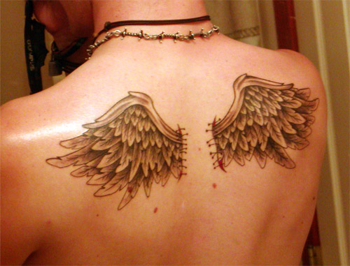 small tattoos Angels Wings Tattoos Angels Wings Tattoos Burgess07