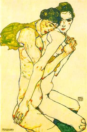 Egon Schiele - Page 3 Egon_Schiele_-_Lovers