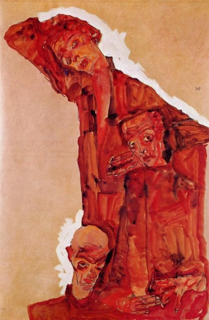 Egon Schiele - Page 2 Egon_Schiele_-_Composition_with_Three_Male_Figures__Self_Portrait_