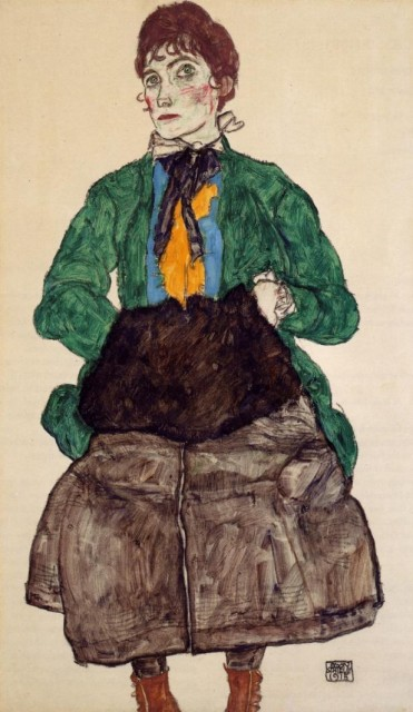 Egon Schiele - Page 3 Egon_Schiele_-_Woman_in_a_Green_Blouse_and_Muff