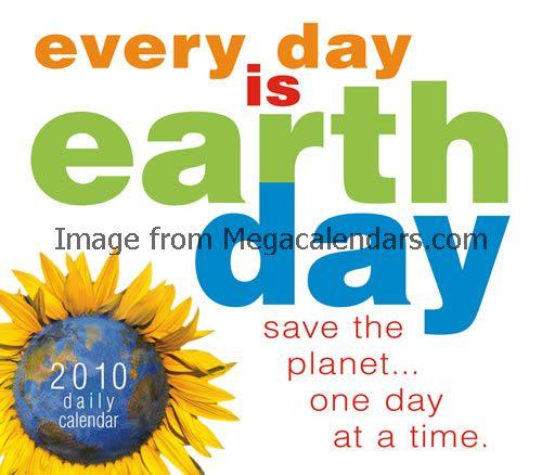22 APRIL / Selamat Hari Bumi 2010! Jangan lupa matikan lampu selama