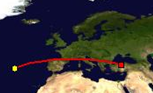 Distance between Azores and Ankara